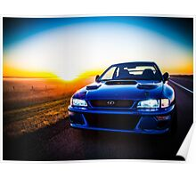 The World of Rally Blue Poster