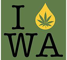 I Dab WA (Washington) Photographic Print