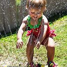 Allie and the Sprinkler! by heatherfriedman