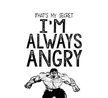 Incredible Hulk Bruce Banner Typography Marvel Comics Photographic Print