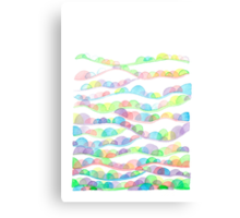 Spring Valleys Abstract Watercolor Canvas Print