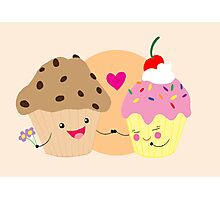 Muffin loves Cupcake Photographic Print