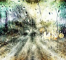 Rainy Night Surreal Landscape Abstract by Melissa Bittinger