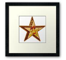Wood Star Framed Print