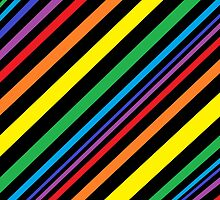 Simplistic Diagonal - Rainbow by Hayden Shepherd