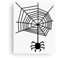 spider web with spider Canvas Print
