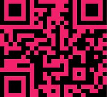 QR Code - Hot Pink by Hayden Shepherd