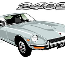 Datsun 240Z silver by car2oonz
