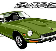 Datsun 240Z light green by car2oonz