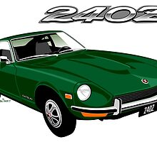 Datsun 240Z green by car2oonz