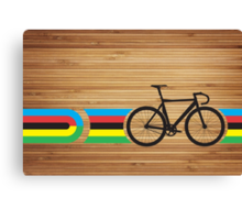 Bike Stripes World Track Champion Canvas Print