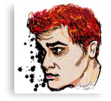 Rainbow Haired Genius Canvas Print