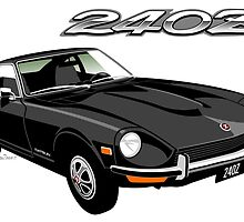 Datsun 240Z black by car2oonz