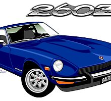 Datsun 260Z blue by car2oonz
