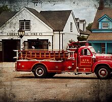 Fireman - Newark fire company by Mike  Savad