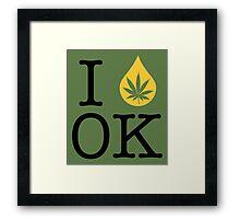 I Dab OK (Oklahoma) Framed Print