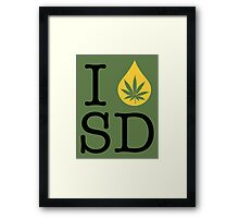 I Dab SD (South Dakota) Framed Print