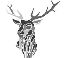 Geometric Stag Design by inkwellart