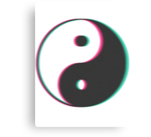 YinYang Transparent Tumblr Style Canvas Print