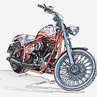 Chopper Illustration III by DaveKoontz