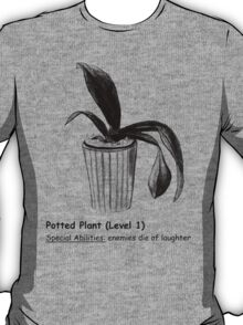 Level 1 Potted Plant Monster T-Shirt