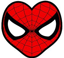 SpiderMan Face Heart by cesimagina