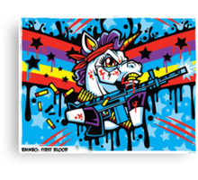 Rainbo: First Blood Canvas Print