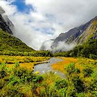 The valleys of New Zealand in the south island towards Milford Sound by Luke Farmer