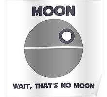 Death Star - Moon Poster