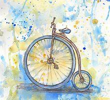 Antique high wheel bike by torishaa