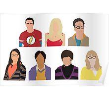 The Big Bang Theory Cast - Minimalist design Poster