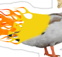 This Duck is ON FIRE! Sticker