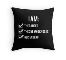 I Am: Breaking Bad Throw Pillow
