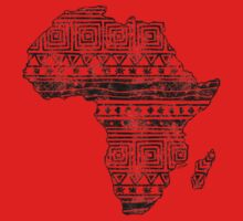 Patterned Map of Africa  Kids Clothes