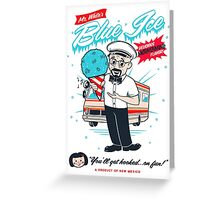 Mr. White's Blue Ice Greeting Card