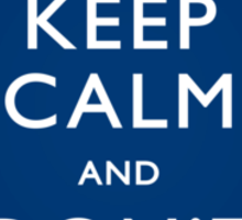 Keep Calm and Don't Blink - Poster Sticker