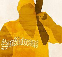 GTA San Andreas Minimalistic Design by RobertNGraphics