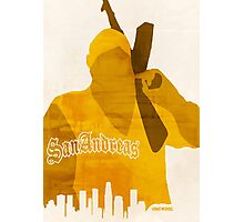 GTA San Andreas Minimalistic Design Photographic Print