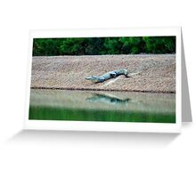 Happy Alligator Greeting Card