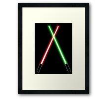 Lightsabers Framed Print