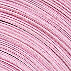 A Roll Of Pink Ribbon - Macro  by Sandra Foster