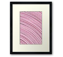 A Roll Of Pink Ribbon - Macro  Framed Print