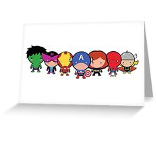 The Cute Avengers Greeting Card