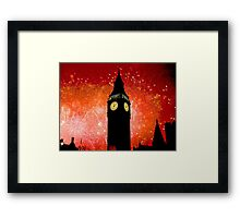 Big Ben - New Years Eve Fireworks 2010 -  2011 - HDR Framed Print
