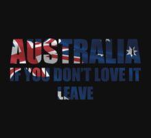 Australia Love It - Flag Cutout by UNPEECEE