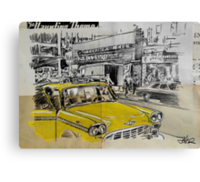 big yellow cab Canvas Print