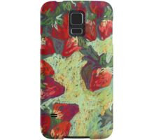 Strawberries on a table Samsung Galaxy Case/Skin