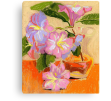 Rhododendron's flowers in a vase Canvas Print