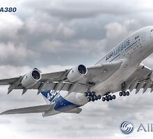 Airbus A380 Take-Off - Duvets, Cases, Pillows etc by © Steve H Clark