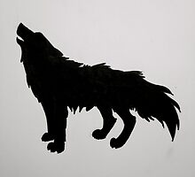 Wolf Silhouette  by thetitanstomb